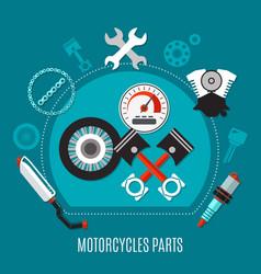motorcycles parts design concept vector image