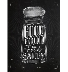 Poster salty food chalk vector image