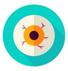 Spooky Eye Circle Icon vector image
