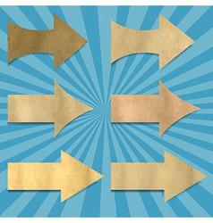 Vintage Sunburst Paper With Arrows Set vector image