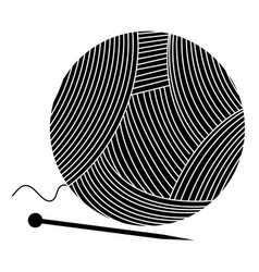 woolen roll with pins vector image