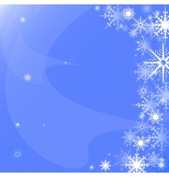 Background of snowflakes vector image