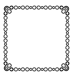 Calligraphic Frame and Page Decoration Curl Border vector image