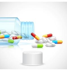 Medicine Capsule in Bottle vector image