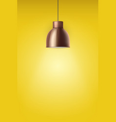 retro brass stylish ceiling cone lamp vector image vector image