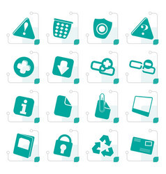 stylized web site and computer icons vector image vector image