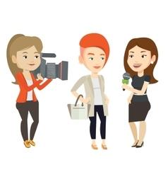 Tv interview vector
