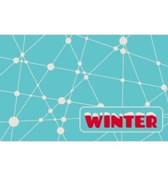 Winter text on snowflakes backdrop vector