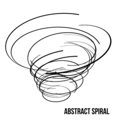 Abstract spiral vector image