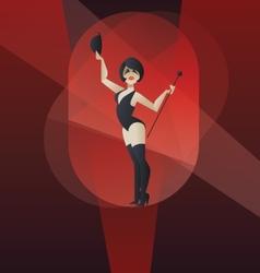 Art Deco poster design cabaret burlesque dancer vector image
