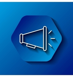 Megaphone icon Communication design over hexagon vector image vector image