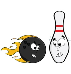 angry bowling ball vector image