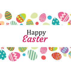 happy easter egg background templatecan be used vector image vector image
