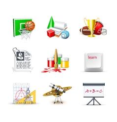 school icons 2 - bella series vector image vector image