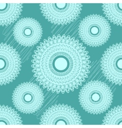 Seamless pattern with round ornament vector image vector image