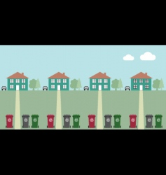 street recycling collection vector image vector image