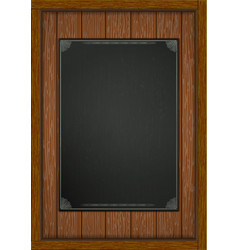 wooden frame with boards black sheet a4 vector image vector image
