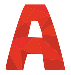 A red alphabet letter isolated on white background vector
