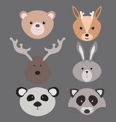 a set cartoon animals vector image