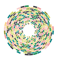 abstract colorful mosaic round pattern vector image