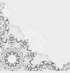 abstract oriental floral vector image