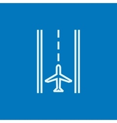 Airport runway line icon vector image