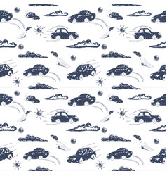 Amazing seamless car pattern vector