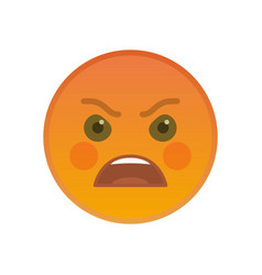 angry emoticon isolated on white background vector image