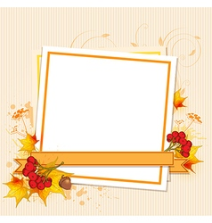 Autumn frame with berry vector