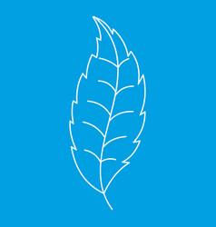 Autumn leaf icon outline style vector