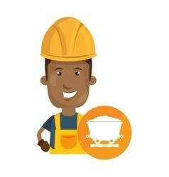 Avatar industrial worker vector