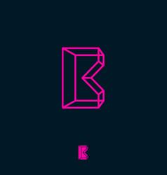 b monogram box build logo box letter vector image