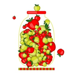 Bank with apple jam for your design vector image