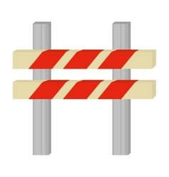 barrier caution danger road sign vector image