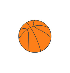basketball ball solid icon sport graphics vector image