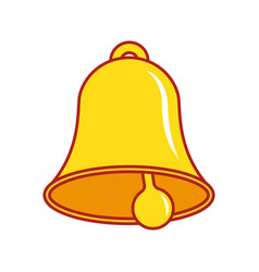 bell icon alarm vector image