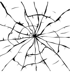 black and white background of broken glass vector image