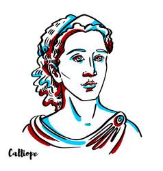 calliope portrait vector image