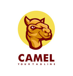Camel athletic club logo concept isolated vector