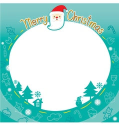 Christmas Outline Ornaments Border vector image