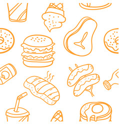 Collection of food element art vector