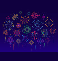 colorful celebration festive fireworks vector image
