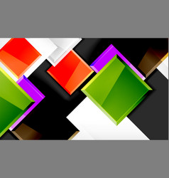 colorful square and rectangle blocks background vector image