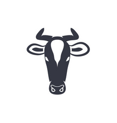 Cow head silhouette vector