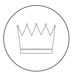 crown the black color icon in circle or round vector image