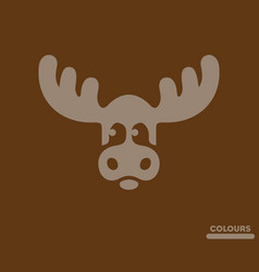 Cute moose vector