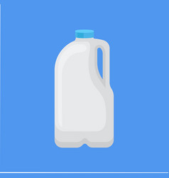 Dairy product in plastic packaging gallon of milk vector