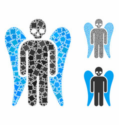 Death angel mosaic icon inequal items vector