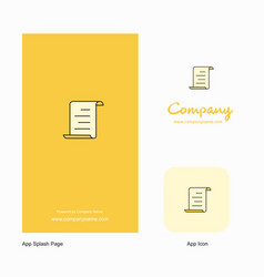 document company logo app icon and splash page vector image