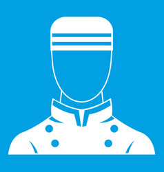 Doorman icon white vector